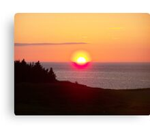 Nova Scotia Sunset Canvas Print