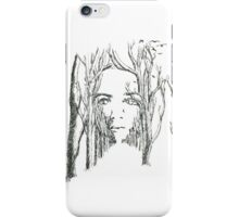 Face in the Trees iPhone Case/Skin