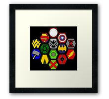 Marvel DC Comic Superhero Crossover Megaverse Framed Print