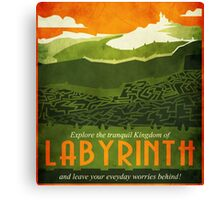 Explore the Tranquil Kingdom of Labyrinth Canvas Print