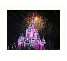 Disney Castle Disney Fireworks Disney Cinderella Disney Sleeping Beauty Art Print