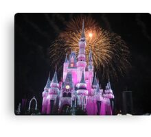 Disney Castle Disney Fireworks Disney Cinderella Disney Sleeping Beauty Canvas Print