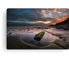 Rock Pool Sunset Canvas Print