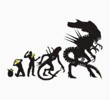 Alien Evolution (NO TEXT) Kids Clothes