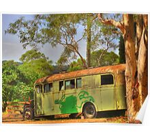 The Old School Bus Poster