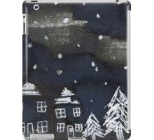 Snowing Christmas Village iPad Case/Skin