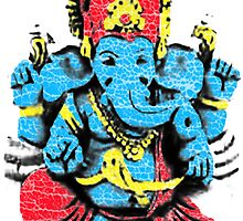 Vintage Ganesh T-shirt by Jelly-Bean