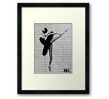 the black tutu Framed Print