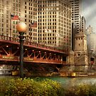 Chicago, IL - DuSable Bridge built in 1920  by Mike  Savad