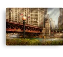 Chicago, IL - DuSable Bridge built in 1920  Canvas Print