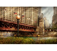 Chicago, IL - DuSable Bridge built in 1920  Photographic Print