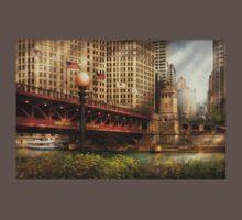 Chicago, IL - DuSable Bridge built in 1920  Kids Clothes
