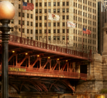 Chicago, IL - DuSable Bridge built in 1920  Sticker