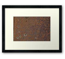 Wear and Tear Rust Texture 2 Framed Print