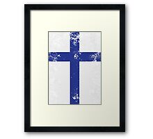 Flag of Finland Framed Print