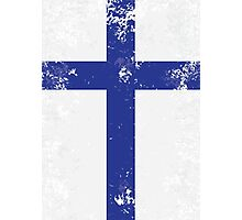 Flag of Finland Photographic Print