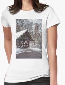 Holidays at the Riverwalk  Womens Fitted T-Shirt