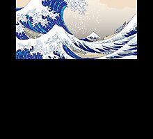 The Great Wave off Kanagawa - Hokusai by Roes Pha
