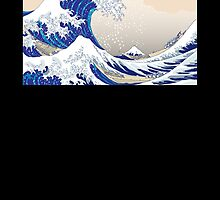 The Great Wave off Kanagawa - Hokusai by Roes Pha