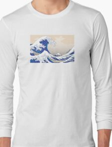 The Great Wave off Kanagawa - Hokusai Long Sleeve T-Shirt