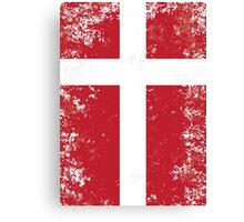 Flag of Denmark Canvas Print