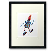 Robot Head Man Framed Print