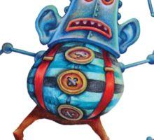 Robot Head Man Sticker
