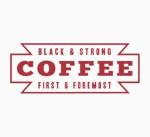 Coffee First in Red T-Shirt