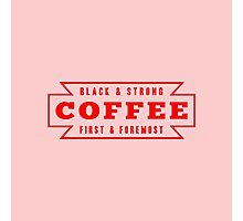 Coffee First in Red Photographic Print