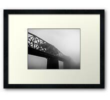 Broadway Bridge in Fog Framed Print