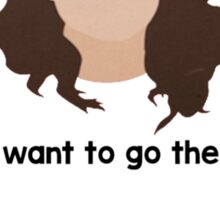 "30 Rock ""I want to go there."" Liz Lemon quote Sticker"