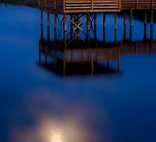 Moonlit Dock by Jason Anderson