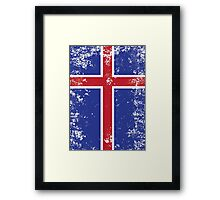 Flag of Iceland Framed Print