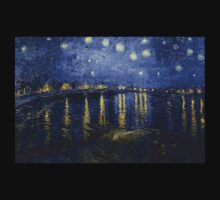 'Starry Night Over The Rhone' by Vincent Van Gogh (Reproduction) T-Shirt