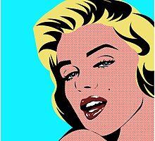 Marilyn Monroe in Pop Art by Zumra M. Waheed