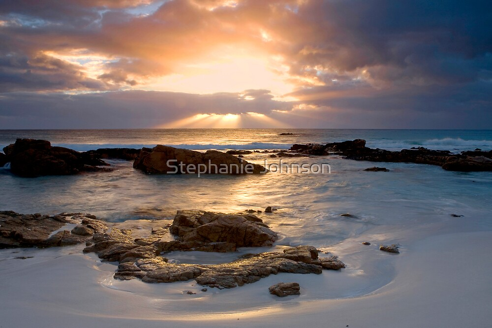 Sunrise at Friendly Beaches by Stephanie Johnson
