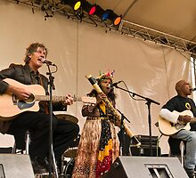 Shane Howard, Ruby Hunter and Archie Roach at the Sorry Day concert by Dave English