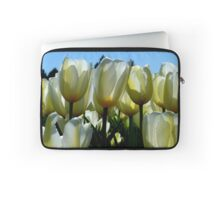 Reaching For The Blue Sky! - White Tulips - NZ Laptop Sleeve