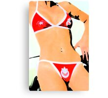 Body in swimwear Canvas Print
