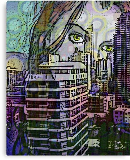 "Cityscape Girl by Belinda ""BillyLee"" NYE (Printmaker)"