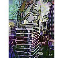 Cityscape Girl Photographic Print