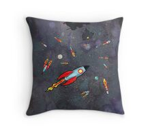 12 Rockets Throw Pillow