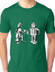 Robot and Godzilla drinking Unisex T-Shirt