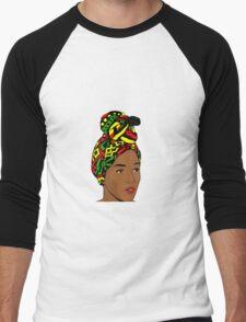 African woman with a turban - Pop art Men's Baseball ¾ T-Shirt
