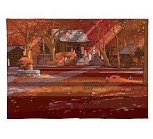 Shrine Autumn Photographic Print