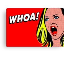 Whoa! Pop art Canvas Print