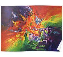 """Explosion"" original artwork by Laura Tozer Poster"