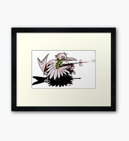 Fighting For Peace Framed Print
