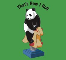 Panda Bear That's How I Roll Kids Tee