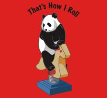 Panda Bear That's How I Roll Kids Clothes